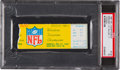 Football Collectibles:Tickets, 1967 NFL Championship Game Packers vs. Cowboys Ticket Stub - Known as the Ice Bowl (PSA Graded). ...