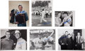 Baseball Collectibles:Photos, Stan Musial Signed Original Press Photographs Lot of 21....