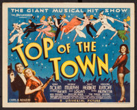 "Top of the Town (Universal, 1937). Title Lobby Card (11"" X 14""). Musical"