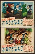 "Movie Posters:Animation, Snow White and the Seven Dwarfs (RKO, R-1943). Lobby Cards (2) (11""X 14""). Animation.. ... (Total: 2 Items)"