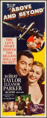 "Above and Beyond (MGM, 1952). Insert (14"" X 36""). Drama"