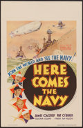 """Movie Posters:Comedy, Here Comes the Navy (Warner Brothers, 1934). Window Card (14"""" X22""""). Comedy.. ..."""