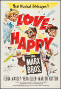 "Movie Posters:Comedy, Love Happy (United Artists, 1949). One Sheet (27"" X 41""). Comedy....."