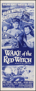 "Movie Posters:Adventure, Wake of the Red Witch (Republic, R-1954). Insert (14"" X 36"").Adventure.. ..."