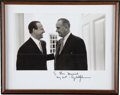 Autographs:Photos, 1960's President Lyndon B. Johnson Signed Photograph to Stan Musialfrom The Stan Musial Collection....