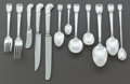 Silver & Vertu:Flatware, A SIXTY-THREE PIECE TIFFANY & CO. CASTILIAN PATTERN SILVER FLATWARE SERVICE FOR SIX. Tiffany & Co., New York, Ne... (Total: 63 Items)