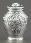 Silver Holloware, American:Other , A GORHAM ATHENIC SILVER GINGER JAR . Gorham ManufacturingCo., Providence, Rhode Island, circa 1900. Marks: (lio...