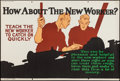 """Movie Posters:Miscellaneous, How About the New Worker? (Mather and Company, 1923). Motivational Poster (28"""" X 41.5""""). Miscellaneous.. ..."""