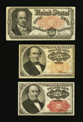 Fractional Currency:Fifth Issue, Two Walkers and a Crawford.. ... (Total: 3 notes)