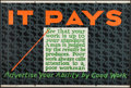 """Movie Posters:Miscellaneous, It Pays (Mather and Company, 1923). Motivational Poster (28"""" X 41.5""""). Miscellaneous.. ..."""