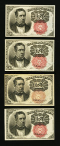 Fractional Currency:Fifth Issue, Fr. 1265 10¢ Fifth Issue Three Examples About New or Better. Fr.1266 10¢ Fifth Issue About New.. ... (Total: 4 notes)