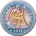 Proof Seated Quarters, 1874 25C Arrows PR65 NGC....