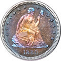 Proof Seated Quarters, 1880 25C PR68+ NGC. CAC....