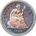 Proof Seated Quarters, 1888 25C PR67 NGC. CAC....