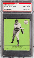 Baseball Cards:Singles (1940-1949), 1941 Goudey Hugh Mulcahy (Green) #1 PSA EX-MT 6 - Pop One, Highest Confirmed Example....