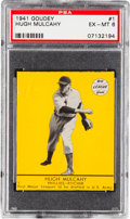 Baseball Cards:Singles (1940-1949), 1941 Goudey Hugh Mulcahy (Yellow) #1 PSA EX-MT 6 - Pop One, HighestConfirmed Example!...