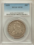 Bust Half Dollars: , 1829 50C Small Letters VF35 PCGS. PCGS Population (85/1238). NGCCensus: (42/1070). Mintage: 3,712,156. Numismedia Wsl. Pri...