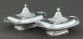 Silver Holloware, American:Entrée Dishes, A PAIR OF GORHAM SILVER COVERED VEGETABLE SERVING DISHES . Gorham Manufacturing Co., Providence, Rhode Island, circa 1920. M... (Total: 2 Items)