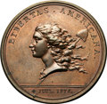 Colonials, (1781) MEDAL Libertas Americana Copper MS64 Brown NGC. Betts-615, Loubat-14....