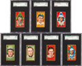 Baseball Cards:Lots, 1911 T205 Gold Border SGC Graded Collection (7). ...