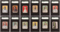 Baseball Cards:Sets, 1910 D322 Tip-Top Bread Pittsburgh Pirates SGC Graded Complete Set(25). ...