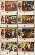 """Movie Posters:Western, The Man Who Shot Liberty Valance (Paramount, 1962). Lobby Card Set of 8 (11"""" X 14""""). Western.. ... (Total: 8 Items)"""