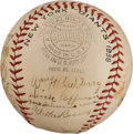 Autographs:Baseballs, 1938 New York Giants Team Signed Baseball....