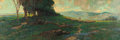 American:Impressionism, KARL SCHMIDT (American, 1890-1962). A Heard of Sheep in aPastoral Landscape, 1916. Oil on canvas. 26 x 74 inches (66.0...