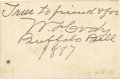 Western Expansion:Cowboy, Buffalo Bill Cody Signed Personal Card. One of the most famousfigures ever to come out of the Old West, William F. 'Buffa...(Total: 1 Item)