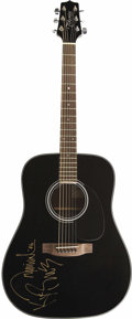 Music Memorabilia:Autographs and Signed Items, Brooks and Dunn Autographed Guitar. A black Takamine G-Seriesacoustic signed by acclaimed duo of Kix Brooks and Ronnie Dunn...(Total: 1 Item)