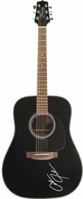 Music Memorabilia:Autographs and Signed Items, Alan Jackson Autographed Guitar. A black Takamine G-Seriesacoustic, signed by the country music singer-songwriter in white... (Total: 1 Item)