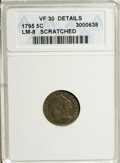 Early Half Dimes, 1795 H10C --Scratched--ANACS. VF30 Details....