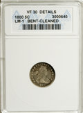 Early Half Dimes, 1800 H10C --Bent, Cleaned--ANACS. VF30 Details....