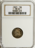 Bust Dimes, 1827 10C MS63 NGC....