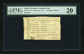Colonial Notes:North Carolina, North Carolina December, 1771 2s/6d PMG Very Fine 20....