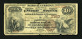 National Bank Notes: , Omaha, NE - $10 1882 Brown Back Fr. 480 The Commercial NB Ch. #3163. ...