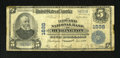 National Bank Notes: , Burlington, VT - $5 1902 Plain Back Fr. 601 The Howard NB Ch. # 1698. ...
