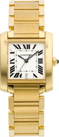 Timepieces:Wristwatch, Cartier Ref. 1840 18k Gold Tank Francaise Automatic. ...