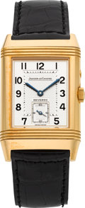 Timepieces:Wristwatch, Jaeger LeCoultre Ref. 270.2.54 Rose Gold Day-Night Reverso. ...