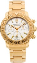 Timepieces:Wristwatch, Blancpain 18k Pink Gold Limited Edition Air Command Chronograph,No. 9/33. ...