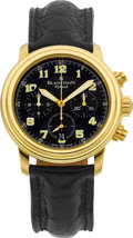 Timepieces:Wristwatch, Blancpain Ref. 2185F Gold Flyback Chronograph No. 72. ...