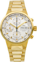 Timepieces:Wristwatch, IWC Gold Ref. 9277 GST Chrono Automatic Wristwatch. ...