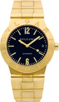 Timepieces:Wristwatch, Bulgari Ref. LC 35 G Gent's 18k Gold Automatic. ...