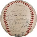 Autographs:Baseballs, 1944 St. Louis Browns Team Signed Baseball....