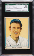 Baseball Cards:Singles (1940-1949), 1941 Play Ball Lefty Gomez Error Back #72 SGC 80 EX/NM 6....