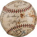 Autographs:Baseballs, 1931 Philadelphia Athletics Team Signed Baseball....