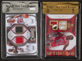 Basketball Cards:Singles (1980-Now), 2007 and 2009 Upper Deck Michael Jordan Jersey Swatch Card Pair (2). ...