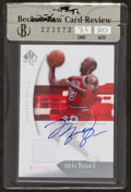 """Basketball Cards:Singles (1980-Now), 2005 SP Authentic """"SP Limited"""" Michael Jordan #12 - Autograph and Jersey Swatch Card. ..."""