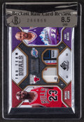 """Basketball Cards:Singles (1980-Now), 2009/10 NBA SP Game Used """"Tag Team Duals"""" Jordan/Malone Jersey Swatch #9/10...."""