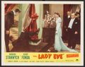 "Movie Posters:Comedy, The Lady Eve (Paramount, R-1949). Lobby Card (11"" X 14""). Comedy.. ..."